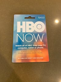 HBO Now Gift Card $400 Value Westminster, 92683