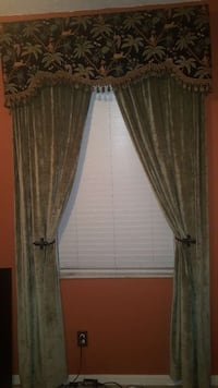 green and brown suede window curtain Tampa, 33647
