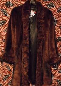 FAUX  FUR  COATS - MED - $45 CONWAY
