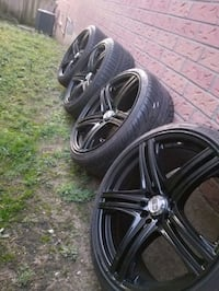 """18"""" rims and tires with tuner lugs Ajax"""