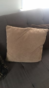 brown suede throw pillow with throw pillow Toronto, M8Y 3A9