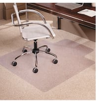 ES Robbins EverLife Lipped Foldable Chair Mat for Flat to Low Pile Carpet, 36 by 47-Inch, Clear Brampton, L6V