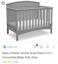 Gray convertible crib Waldorf, 20603