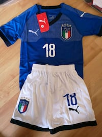 Italy 2019 kids kit ( Jersey + shorts)   Mississauga, L5B 4P5