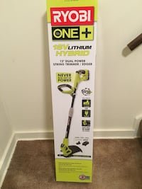 Brand NEW Ryobi ONE+ 18-Volt Lithium-Ion Hybrid Electric Cordless String Trimmer/Edger - 1.3 Ah Battery and Charger Included Springfield, 22151