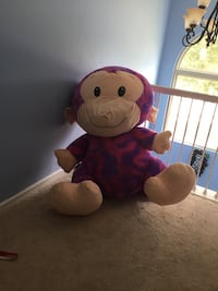 Used Jumbo Carnival Stuffed Animal Monkey 52 Inches For Sale In