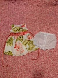 Girl 6m dress with diaper cover - like new  Surrey, V3W 5S2