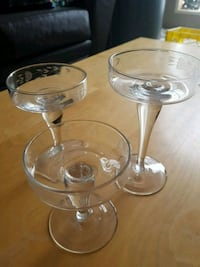 Princess House Heritage Crystal Etched trio Candle Holders Edmonton, T5Y 2P2