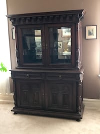 Vintage 1940's to 50's Walnut Hutch w/ Display Top $400.00 REDUCED !(Lets Talk)  PIKESVILLE