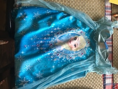 blue Disney Frozen dress