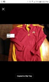 Washington Redskins adult SZ med fleece jacket