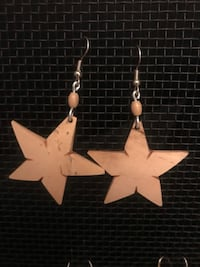 brasilian earrings star light coconut color