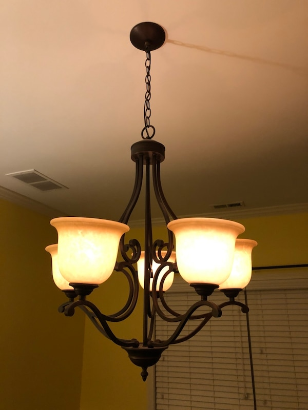 Used Tuscan Rubbed Bronze Dining Room Chandeliers For Sale In Newnan