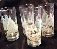 Sleigh Ride Glasses Set 4 Bellevue, 68157