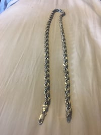 silver chain link necklace with lobster lock Wilmot, N0B