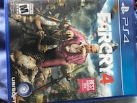 Sony PS4 Farcry 4 game case Tallahassee, 32308
