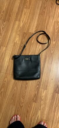 Crossbody black leather