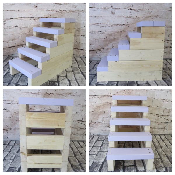 Lavender and Natural 5 step Stairs