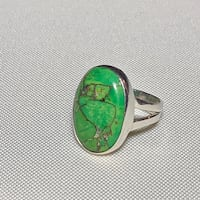 Vintage Sterling Silver Mohave Green Turquoise Ring Ashburn, 20147