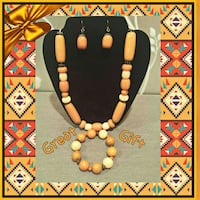 NEW ORNG MARBLE GLASS NECKLACE,BRACELET&EARRINGS Ontario, 91762