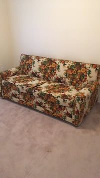 Brown and green floral fabric sofa Pitt Meadows, V3Y 2L6