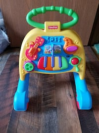 blue and yellow Fisher-Price learning walker Columbus, 43207