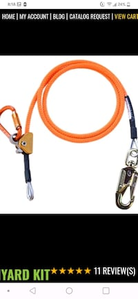 Cable buckstrap for tree climbing