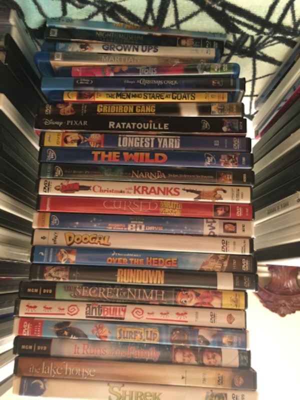 DVDs & Blu-ray's for $3/each