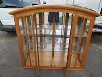 Lighted glass china cabinet