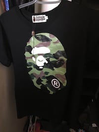 Bape shirt size asian small real with tags and bape bag trades or cash