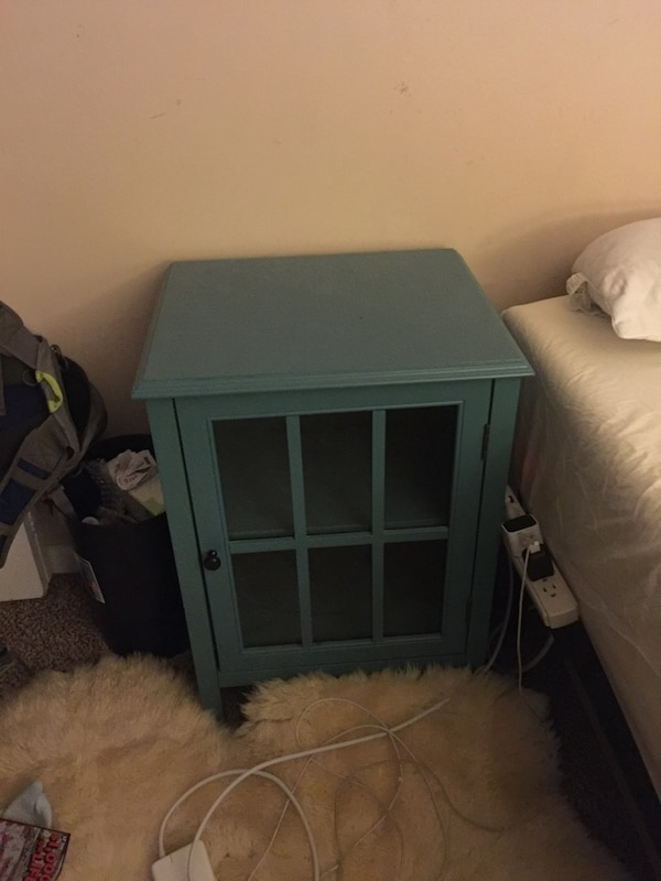 cebb9581981552 Used Blue wooden display cabinet  nightstand for sale in Elgin - letgo