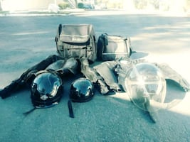 Motorcycle Riding Gear Bags Helmets Protection Pads