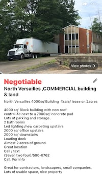 4000 sq' COMMERCIAL Building /land 4lease
