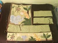 NoJo Little Bedding Jungle Time 4 Piece Crib Set Kings County