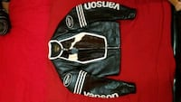 black and white Cow leather vanson jacket Bronx, 10473