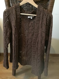 cardigan tricoté marron