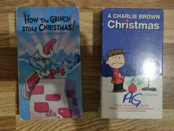 A Charlie Brown Christmas Vhs.Vintage Vhs Christmas Movies