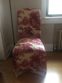 Lane Red Toile Slipper Accent Chair Chicago, 60613