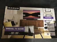 "Sanus - Premium Swivel TV Base for Most 32"" - 60"" TVs - Black BSTV1-B1 Rockville, 20853"