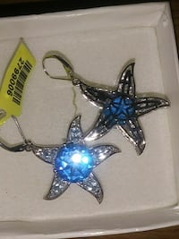 Brand new sterling 925 blue stone starfish earring Winter Haven, 33881