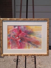 Large pastel abstract water colour