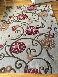White, green, red, and brown floral area rug Lower Southampton, 19053