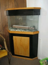 Honey Oak & Black Corner Fish Tank South Salt Lake, 84119