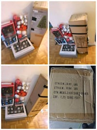 Christmas Tree with 4 boxes of decoration Toronto
