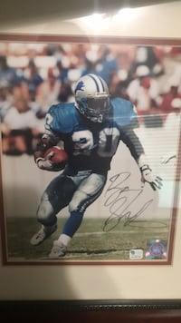 Autographed Barry Sanders 8x10 Redding, 96003