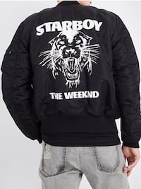 Weeknd Starboy Alpha Industries Bomber size large  554 km