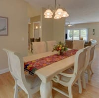 rectangular white wooden table with six chairs dining set Gaithersburg, 20878