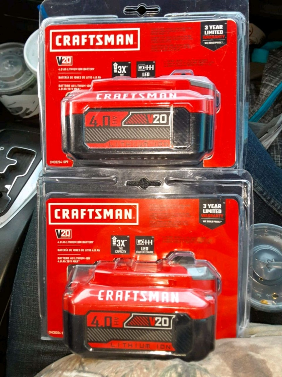 Photo 2 craftsman 4.0 power tool batteries was 100 for both now it's 60