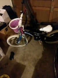 toddler's blue and white bicycle Seattle, 98117