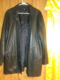 black leather zip-up jacket Houston, 77076
